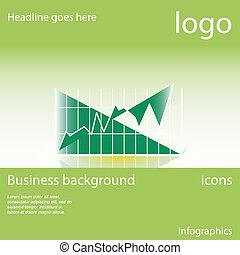 Chart, business background
