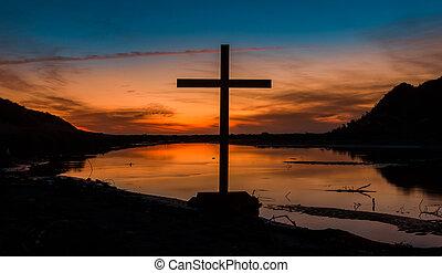 Himatangi Beach Sundown Cross