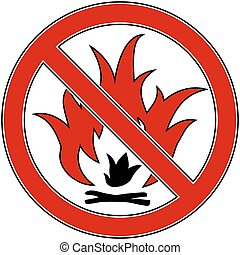 No Fire vector sign Eps 8 illustration