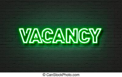 Vacancy neon sign