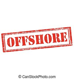 Offshore-stamp - Grunge rubber stamp with text...