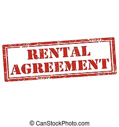 Rental Agreement - Grunge rubber stamp with text Rental...