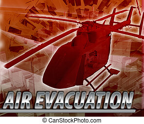 Air evacuation Abstract concept digital illustration -...