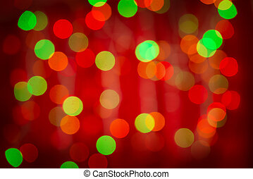 Red bokeh background - Red green blurred bokeh background.