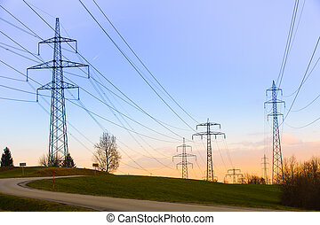 Electric power lines