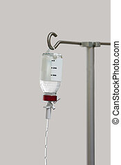 Isolated infusion bottle in hospital