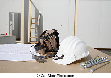 Building equipment, hardware and building plan