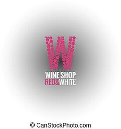 wine logo deign background - wine winery logo deign...