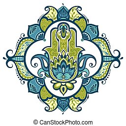 Decorative hamsa - Vector hamsa
