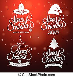 Merry Christmas text - Christmas text. Merry Christmas And...