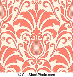Vector damask seamless pattern element Elegant luxury...