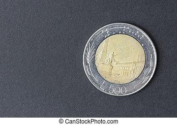 cinco, cien, lire, italiano,