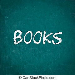 BOOKS written on chalkboard
