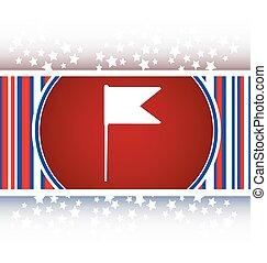 flag sign web button icon