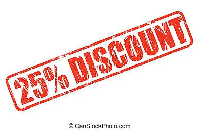25 percent discount red stamp text
