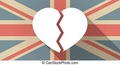 UK flag icon with a heart - Illustration of a UK flag icon...