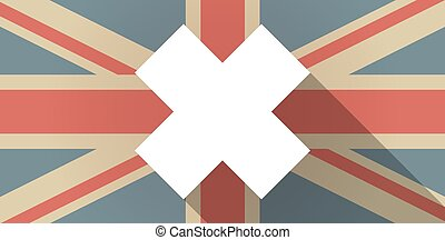 UK flag icon with an irritating substance sign
