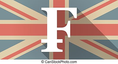UK flag icon with a swiss franc sign - Illustration of a UK...