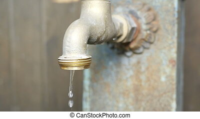 Dripping Tap Old Faucet Fountain