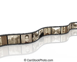Memories - retro photo with filmstrip