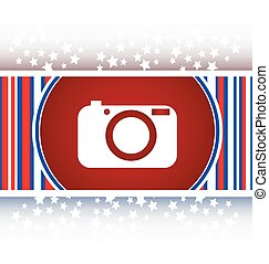 Camera icon on round internet button original illustration