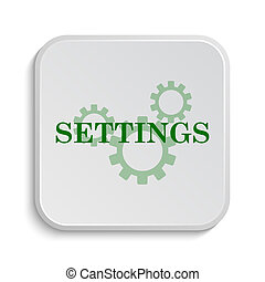 Settings icon. Internet button on white background.