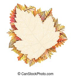 Autumn frame with fall leaf EPS 10 vector file included