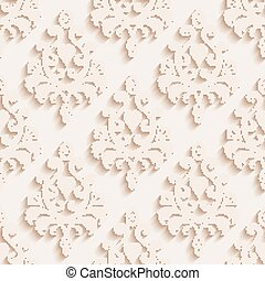 Seamless wallpapers in the style of Baroque . Can be used for backgrounds and page fill web design. Vector illustration