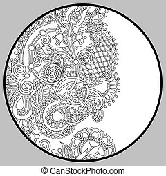 coloring book page for adults - zendala