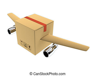 Rapid delivery concept 3d render illustration - 3d render of...
