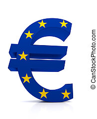 Euro - Large Euro symbol combined with the European Union...