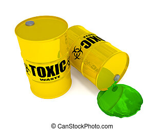 Toxic Waste - 2 drums containing toxic waste.