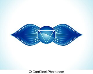 abstract blue third eye chakra.eps - detailed brow chakra...
