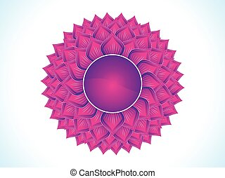abstract purple crown chakra.eps - detailed crown chakra...