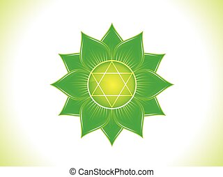 abstract green heart chakraeps - detailed heart chakra...
