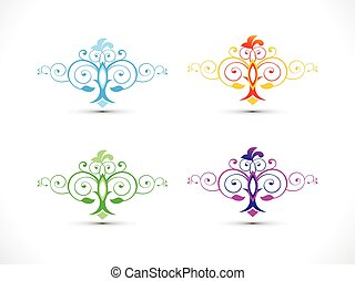 abstract multiple colorful floral.eps