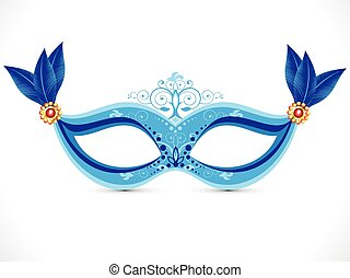 abstract artistic blue mask.eps