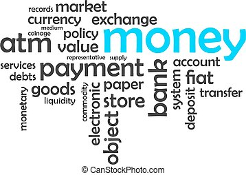 word cloud - money - A word cloud of money related items