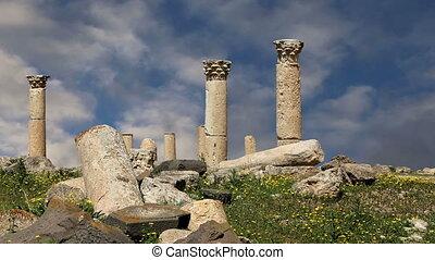Roman ruins at Umm Qais,Jordan - Roman ruins at Umm Qais Umm...