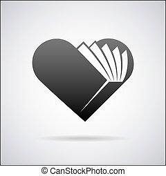 Vector heart logo design template
