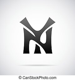 Vector lettering for NY