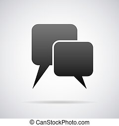 Vector speech balloon icon. Design template - Speech balloon...