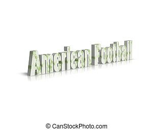 american football 3d word