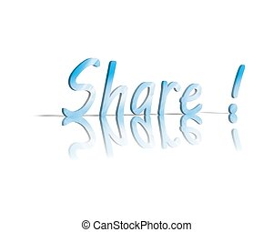 share 3d word