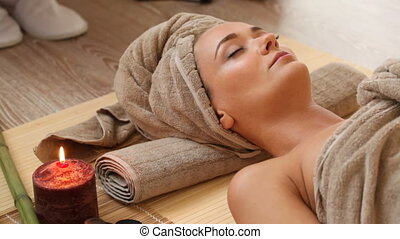 woman at spa session