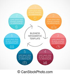 Vector circle infographic Template for cycle diagram, graph,...