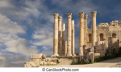 Temple of Zeus,Jerash,Jordan - Temple of Zeus, Jordanian...