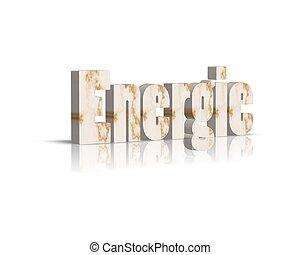energie energy 3d word