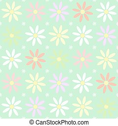 Seamless flower pattern chamomile. For pattern fills, web...