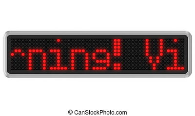 4K - Led dot display - Red led dot display with Warning...